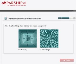 Voorbeeldvraag Parship