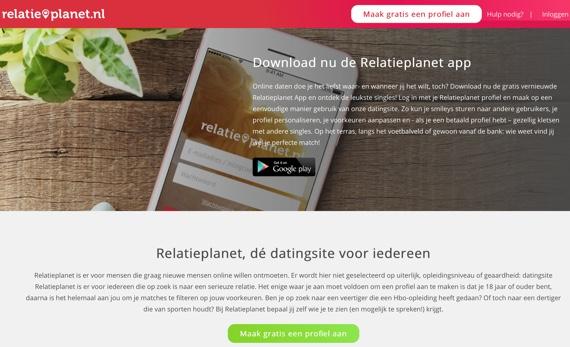 relatieplanet.be website