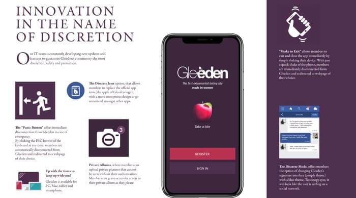 Gleeden app
