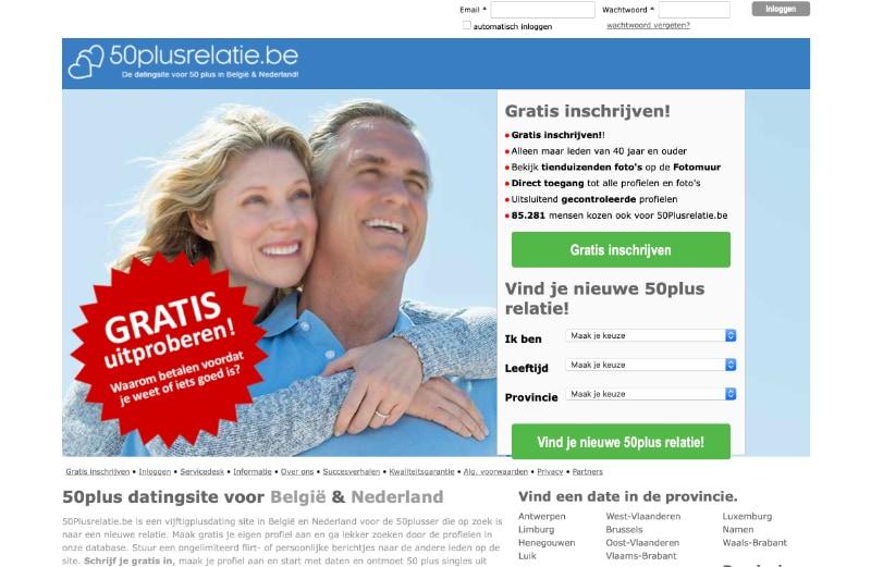 website 50plusrelatie.be