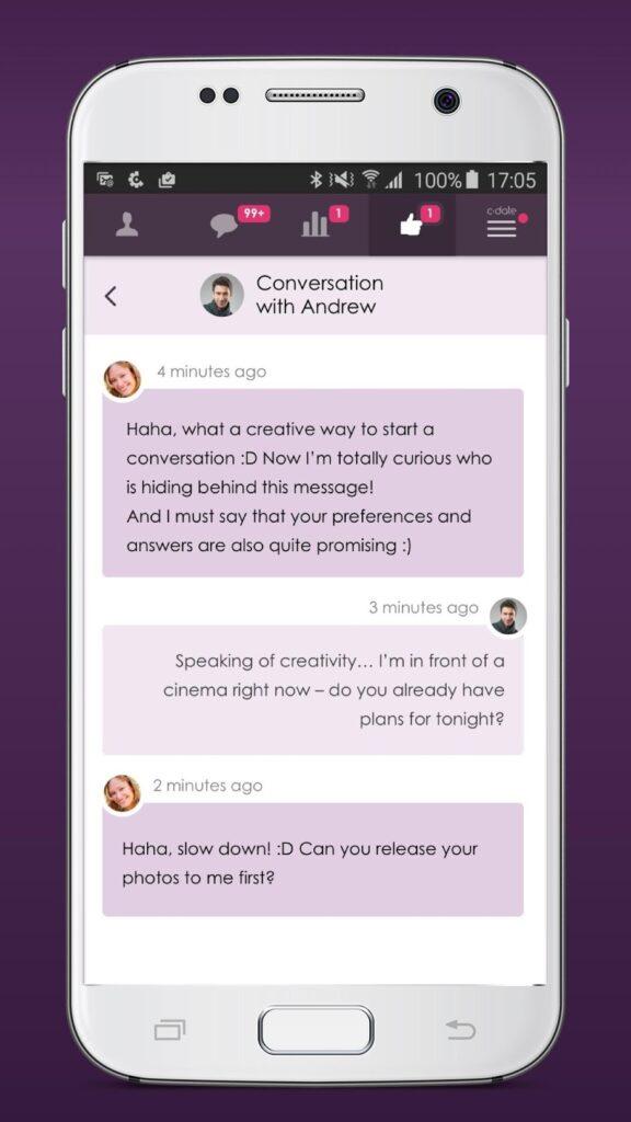 c-date.be app berichten