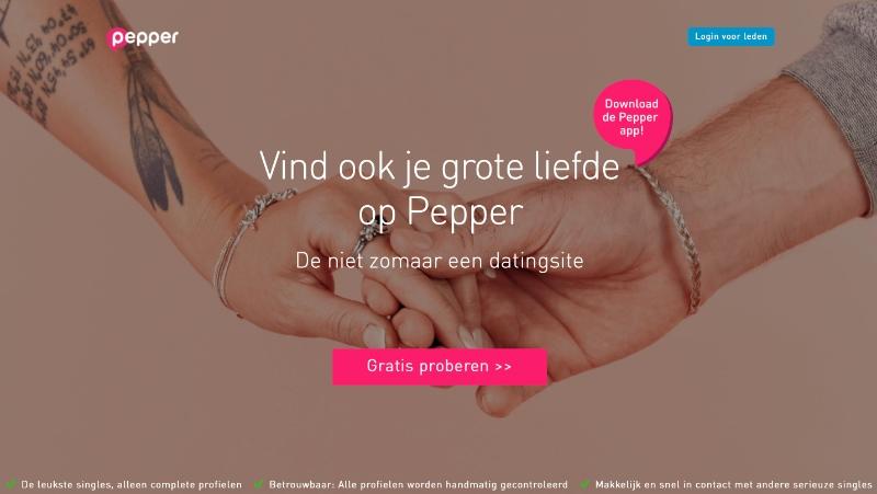 pepper.be website