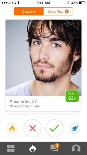 discover functie op de app