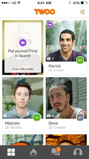 Twoo app zoeken