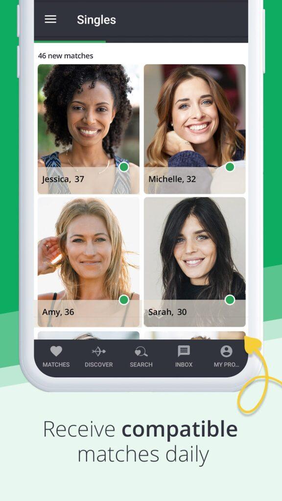 voorbeeld van partnervoorstellen in de app